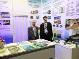 The display booth of CRISM «Prometey» was located in the topic zone «Arctic»