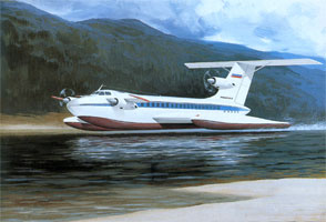 Project of the passenger airfoil boat